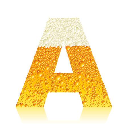 alphabet beer A Vector