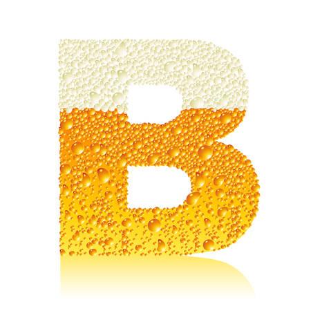 alphabet beer B Vector