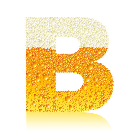alphabet beer B Illustration