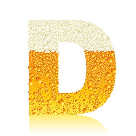 alphabet beer D Vector