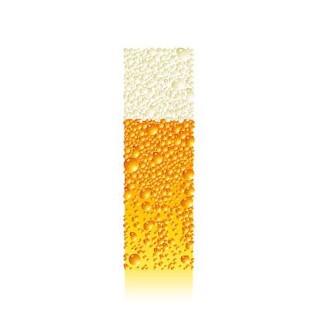 bollicine champagne: alfabeto birra mi  Vettoriali