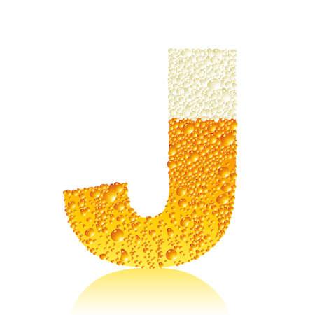 alphabet beer J Vector
