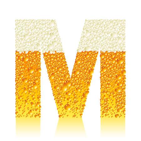 beer icons: alphabet beer M
