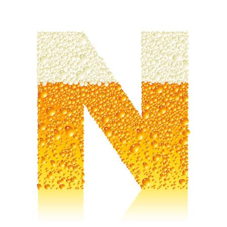 alphabet beer N Stock Vector - 5886128