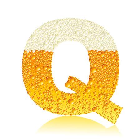 q: alfabeto birra q Vettoriali