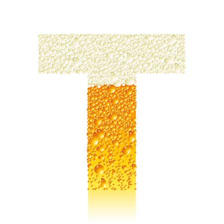 alphabet beer T Vector