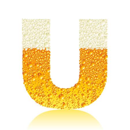 alphabet beer U Vector