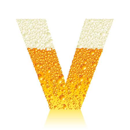 beer pint: alfabeto cerveza V