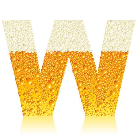alphabet beer: alphabet beer W