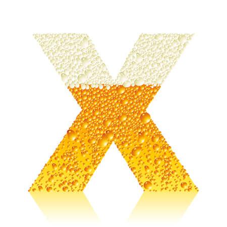 alphabet beer X Vector