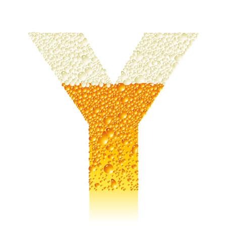 thirsty: alphabet beer Y Illustration