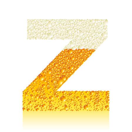 alphabet beer Z Vector
