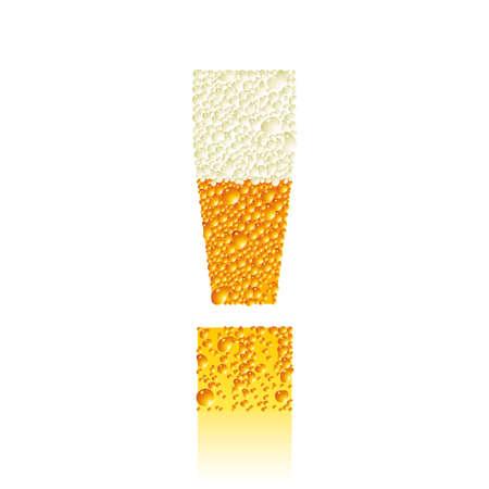 alphabet beer ! Vector