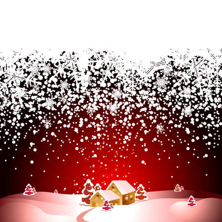 christmas landscape Stock Vector - 5920205