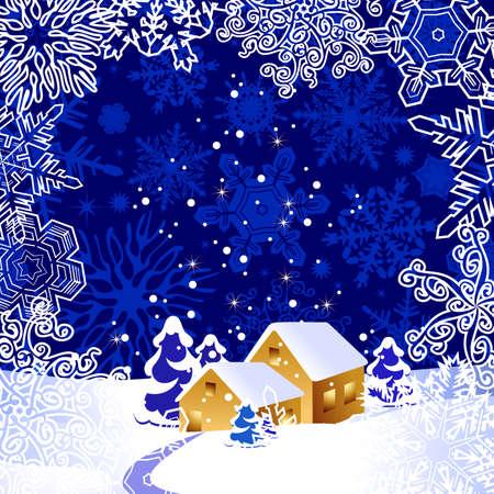 wintertime: christmas landscape