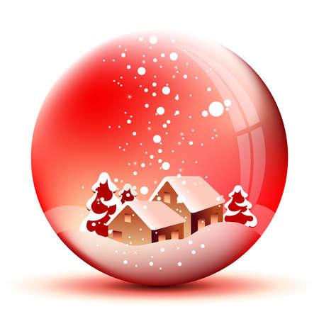 snowglobe: christmas landscape