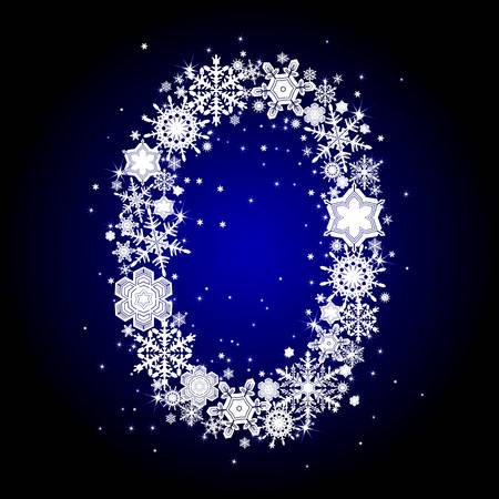 alphabet snow 0 Stock Vector - 6055884