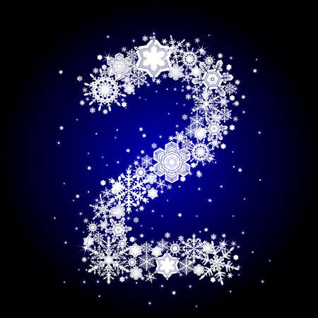 alphabet snow 2 Stock Vector - 6055892