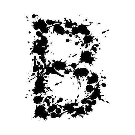 alphabet ink B Vector