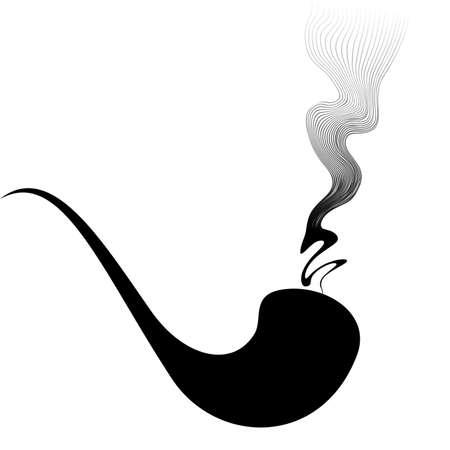 fumador de pipa  Ilustración de vector