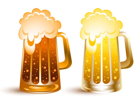 gold beer Stock Vector - 6690848