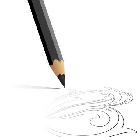 pencil background Stock Vector - 6829756