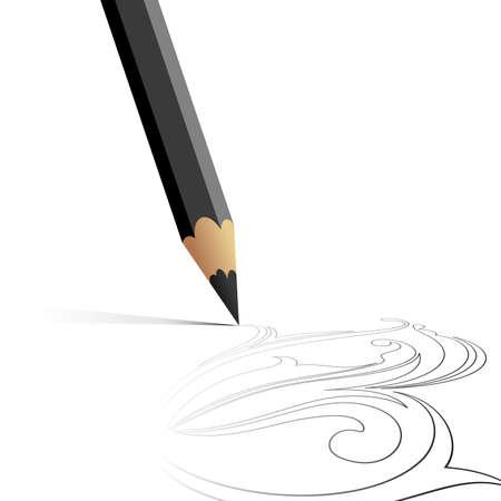 pencil background Stock Vector - 6829756