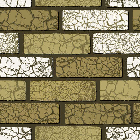 seamless brickwork Vector