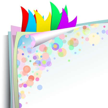 corner flag: background paper with bookmarks Illustration