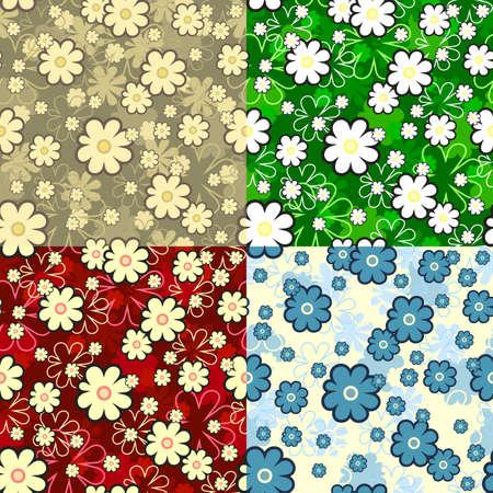 garden wall: seamless floral texture