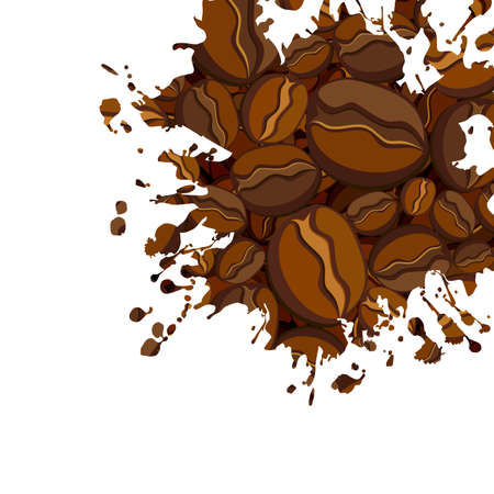 coffee background Vectores