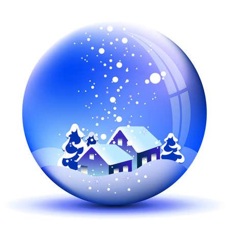 boule de neige: arrière-plan de Noël