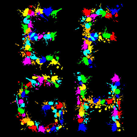 g spot: alphabet color drop EFGH