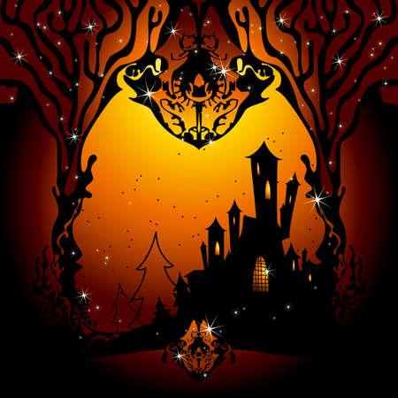 cobwebs: halloween Illustration