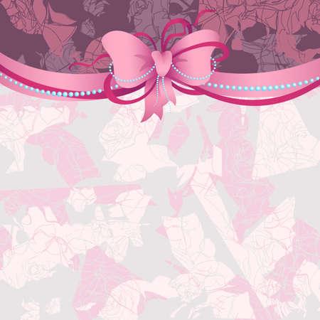 pink ribbon: bow