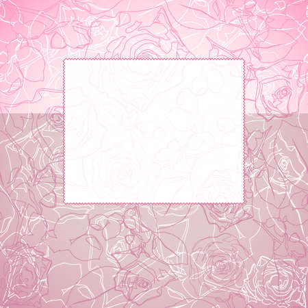 tag on the floral background Vector