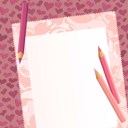 tag on the romantic background Vector