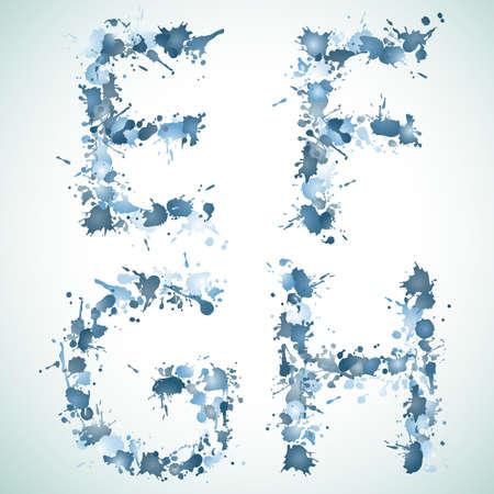 g spot: alphabet water drop EFGH