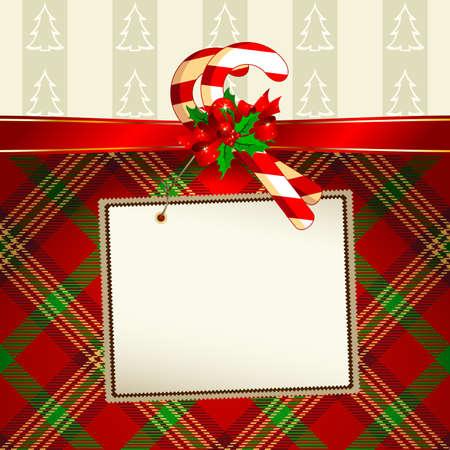 label met Kerst decoratie Vector Illustratie