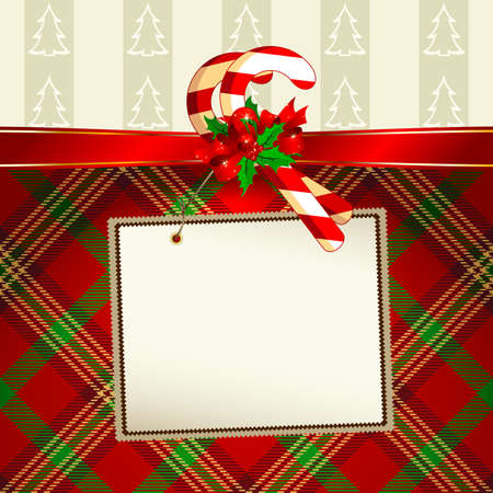 tag with christmas decoration Vector