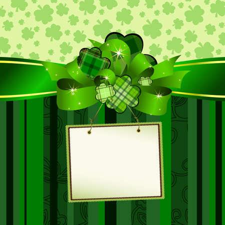 clover backdrop: tag (Patrick) Illustration