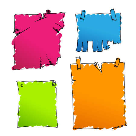 coloured tags Stock Vector - 9317539