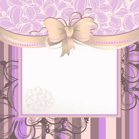 background with bow Vector