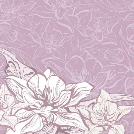 スクラップブッキング: 花の背景