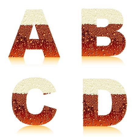 alphabet dark beer ABCD Vector