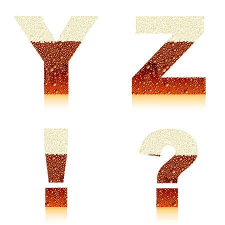 alphabet dark beer YZ Vector