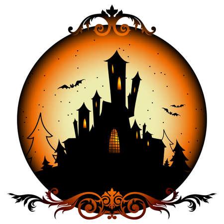 spinnennetz: Halloween-Hintergrund Illustration