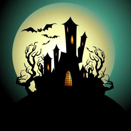 maison de maitre: Halloween de fond Illustration