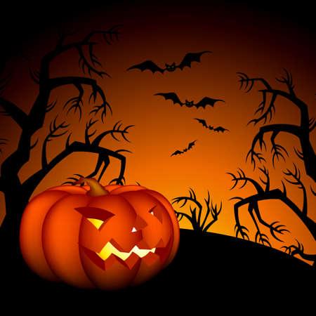 halloween background Stock Vector - 10825341
