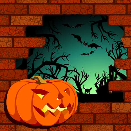 halloween background Stock Vector - 10954080